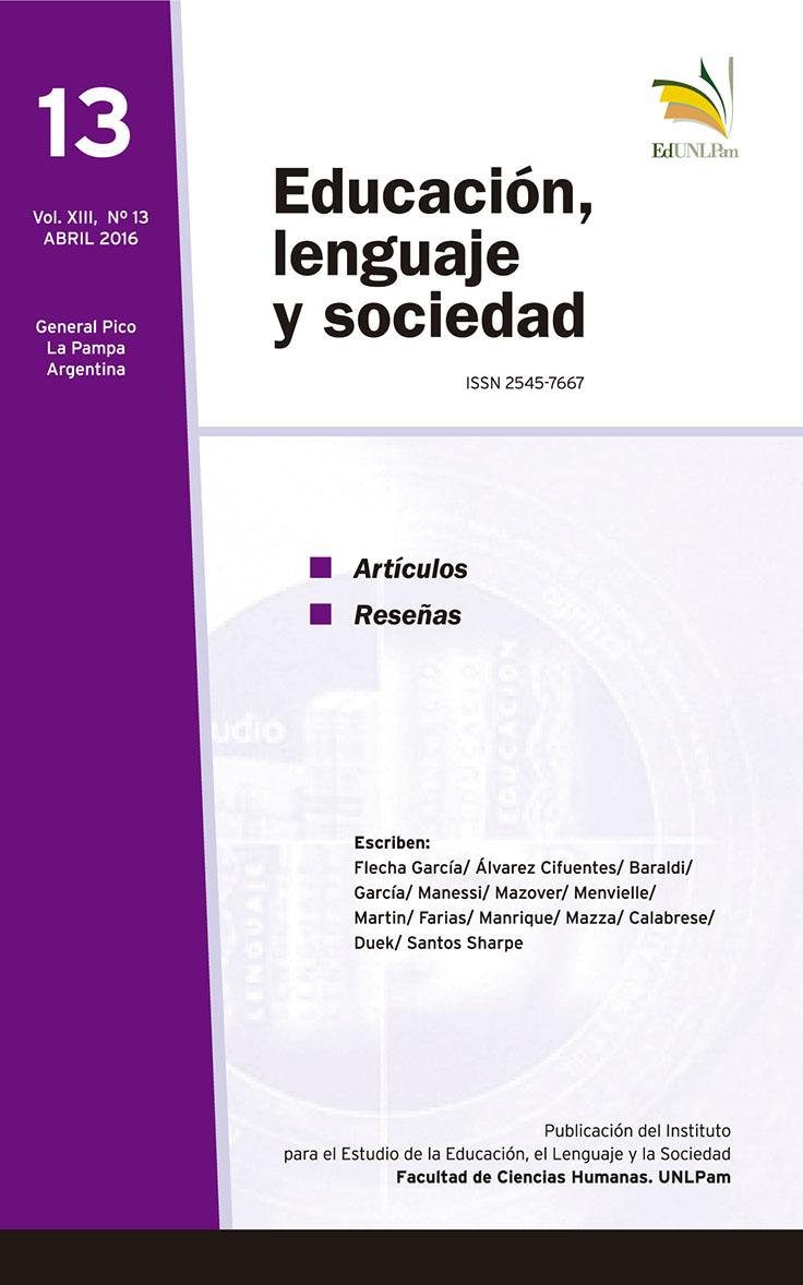 REVISTA DEL INSTITUTO EDUCACIÓN, LENGUAJE, Y SOCIEDAD